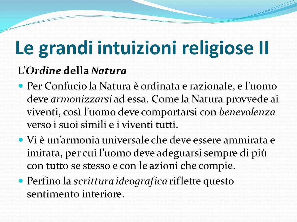 Le grandi intuizioni religiose II