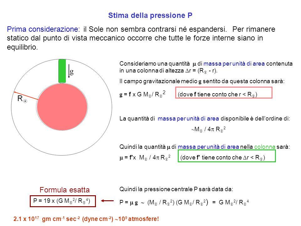 Stima della pressione P