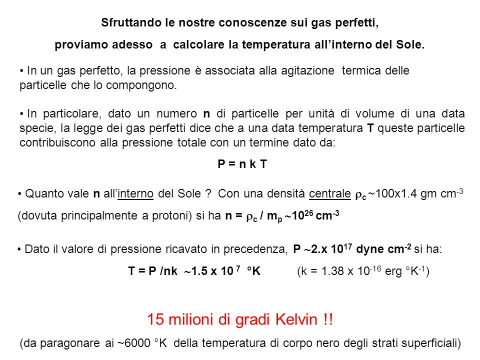 15 milioni di gradi Kelvin !!
