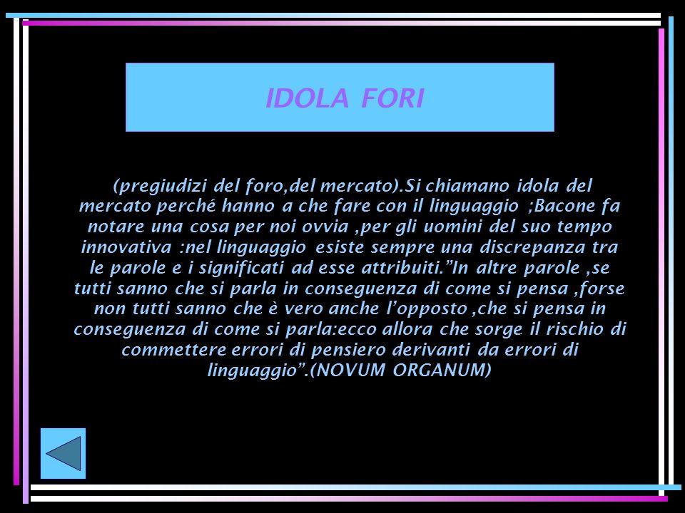 IDOLA FORI
