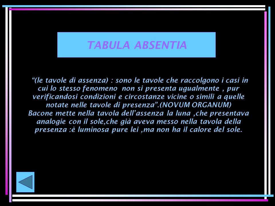 TABULA ABSENTIA