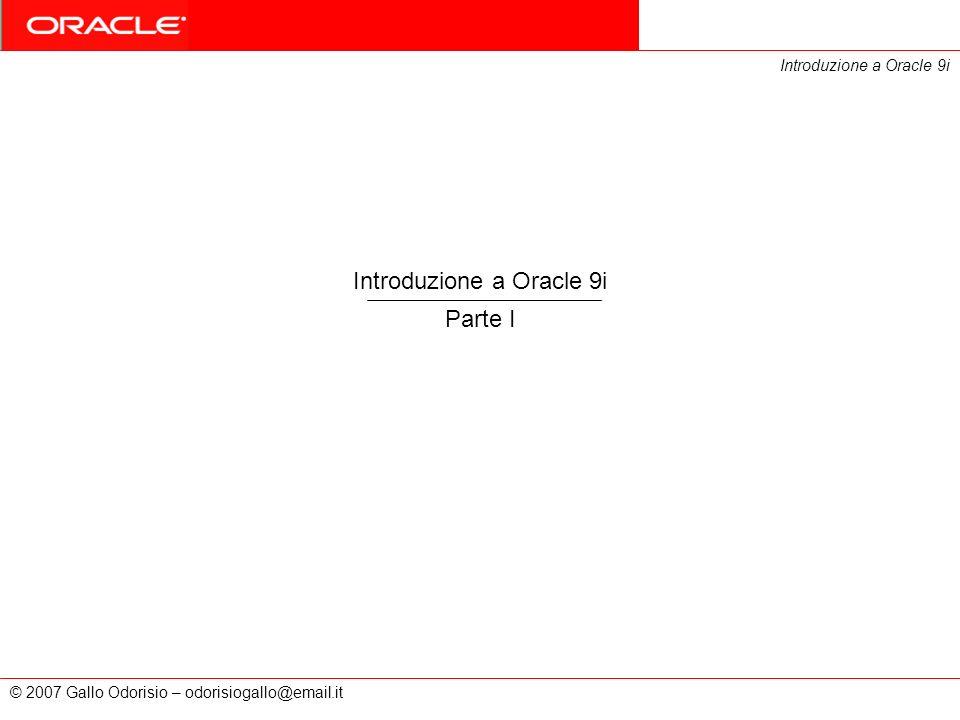 Introduzione a Oracle 9i