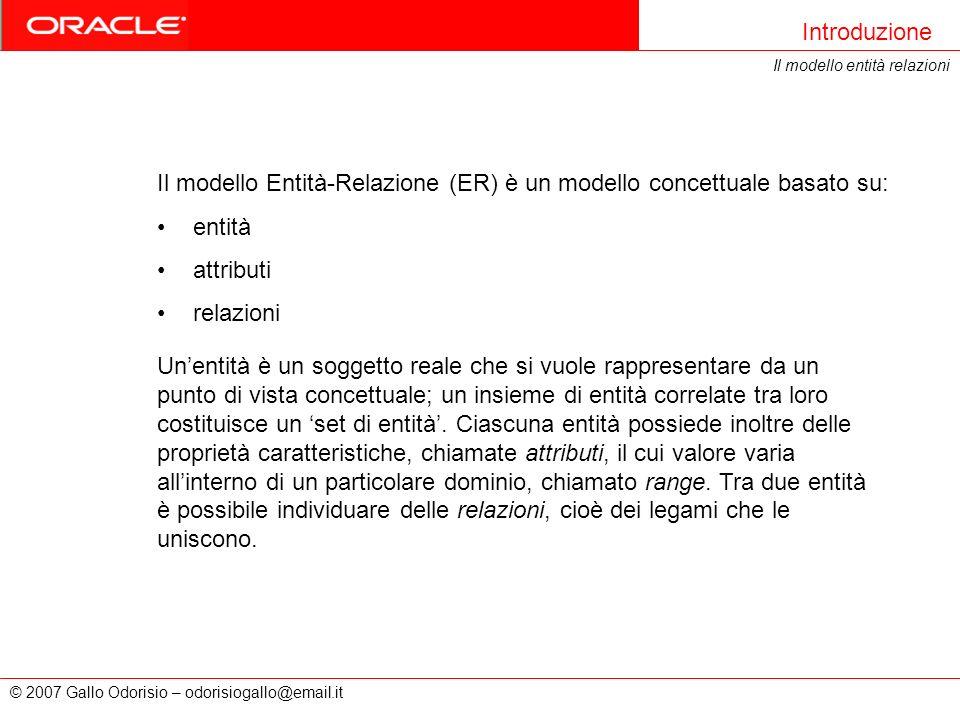Il modello Entità-Relazione (ER) è un modello concettuale basato su: