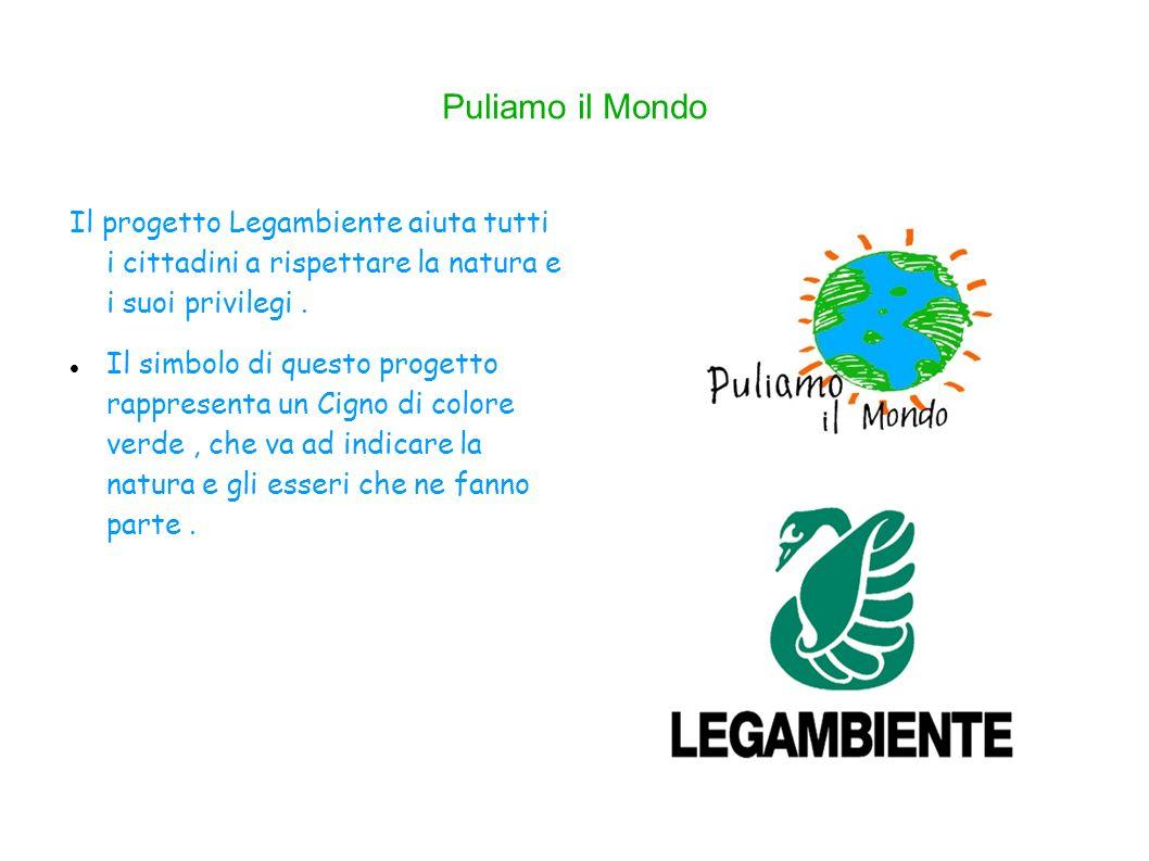 Puliamo il Mondo Il progetto Legambiente aiuta tutti i cittadini a rispettare la natura e i suoi privilegi .