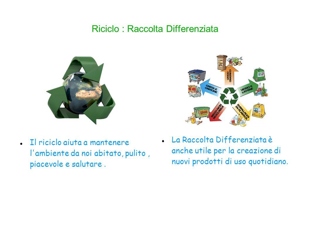 Riciclo : Raccolta Differenziata