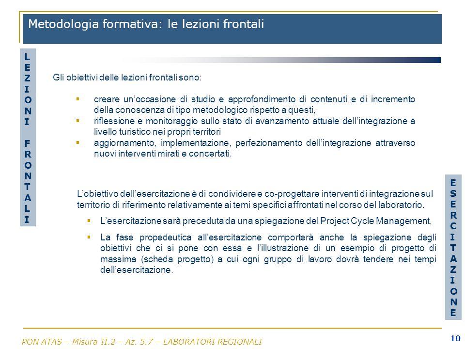 Metodologia formativa: le lezioni frontali