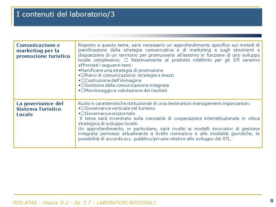I contenuti del laboratorio/3