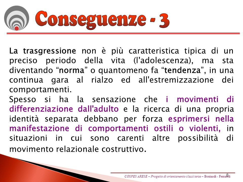 Conseguenze - 3