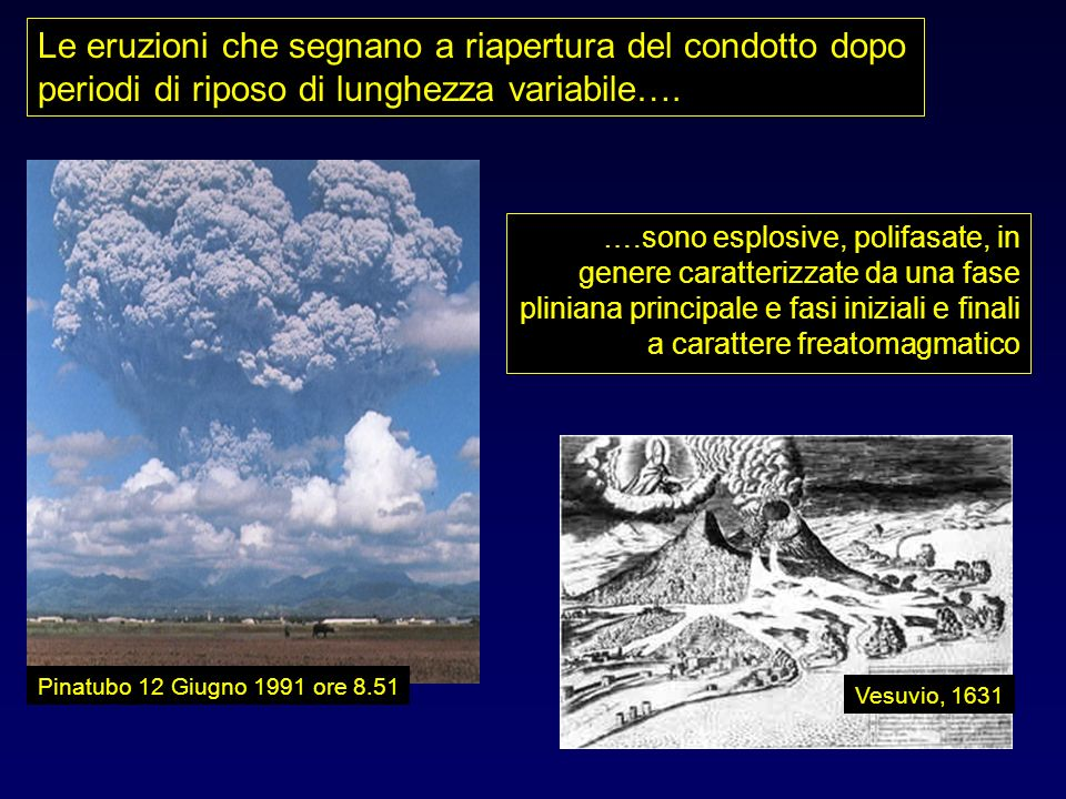 Le eruzioni che segnano a riapertura del condotto dopo periodi di riposo di lunghezza variabile….