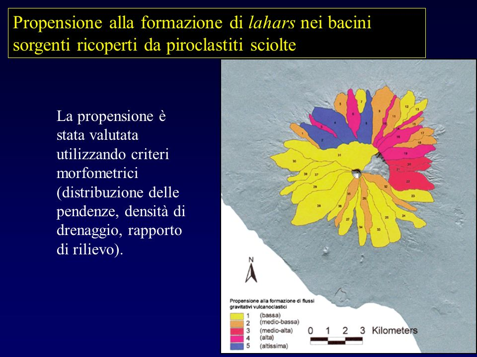 Propensione alla formazione di lahars nei bacini sorgenti ricoperti da piroclastiti sciolte