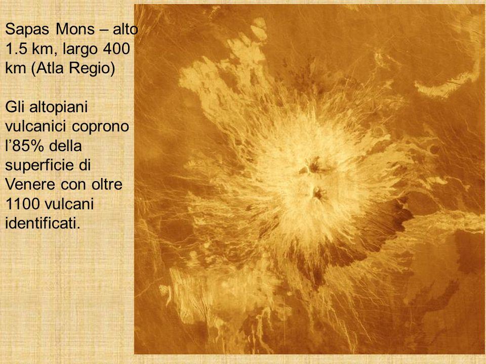 Sapas Mons – alto 1.5 km, largo 400 km (Atla Regio)