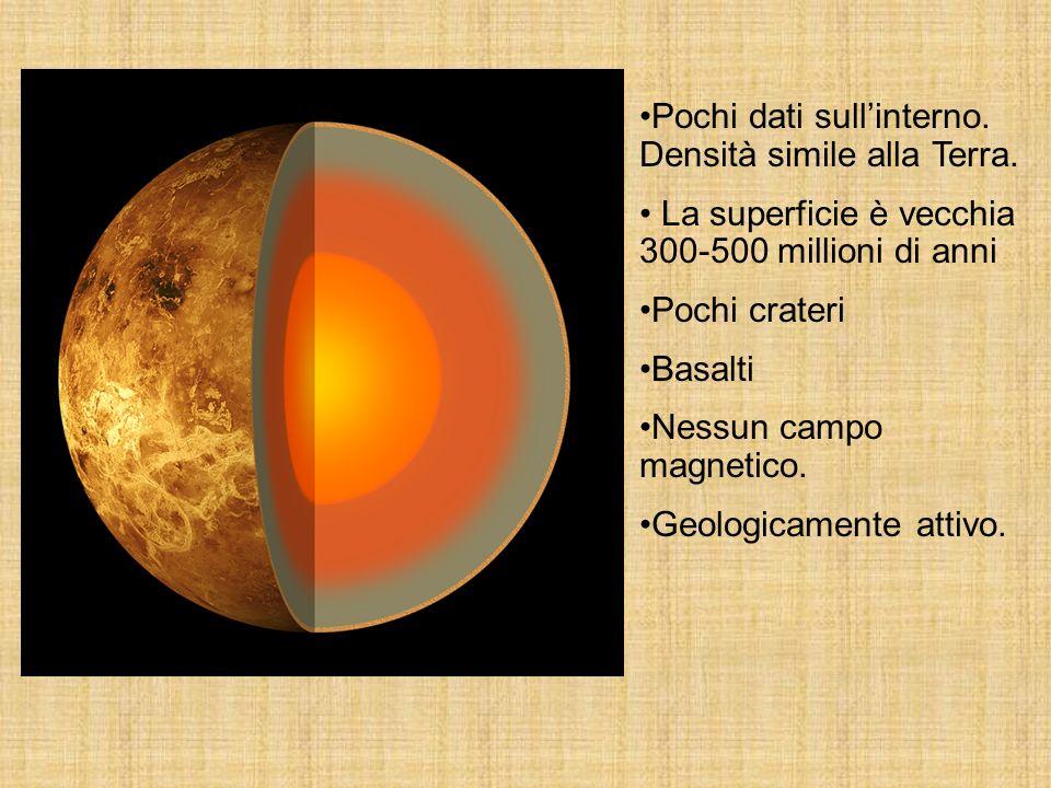 Pochi dati sull'interno. Densità simile alla Terra.