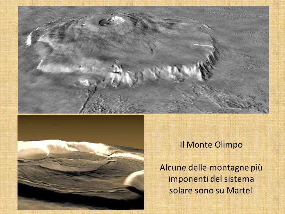 Alcune delle montagne più imponenti del sistema solare sono su Marte!