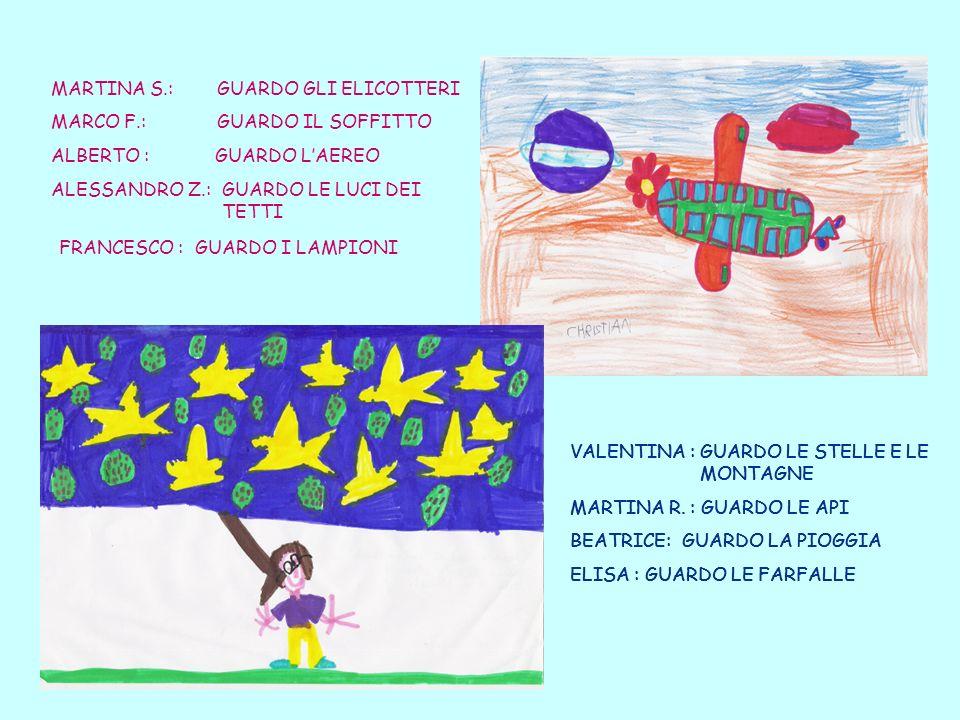 MARTINA S.: GUARDO GLI ELICOTTERI