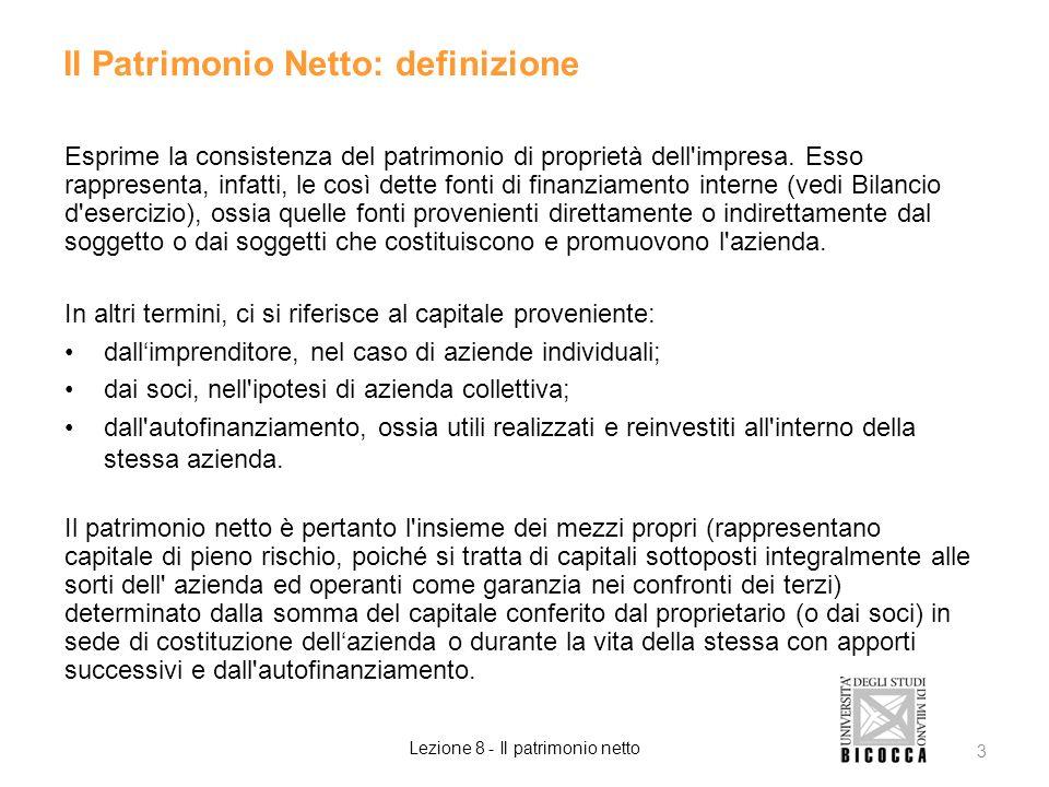 Il Patrimonio Netto: definizione