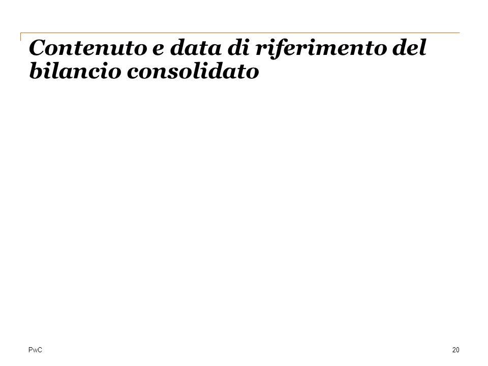 Contenuto e data di riferimento del bilancio consolidato