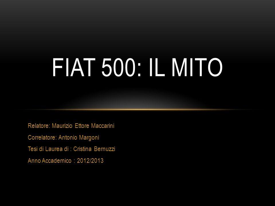 Fiat 500: Il Mito Relatore: Maurizio Ettore Maccarini