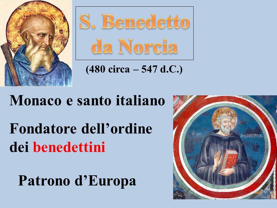 S. Benedetto da Norcia Monaco e santo italiano