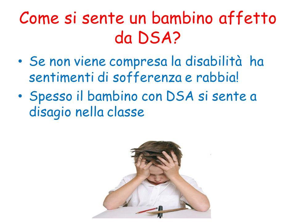 Come si sente un bambino affetto da DSA