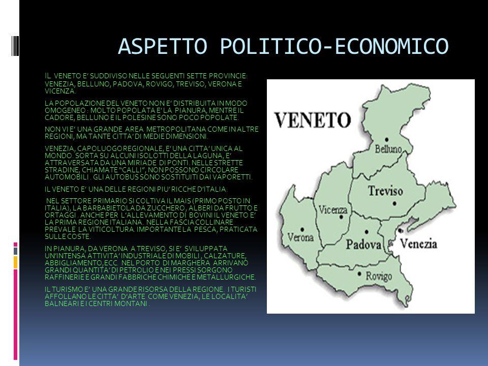 ASPETTO POLITICO-ECONOMICO