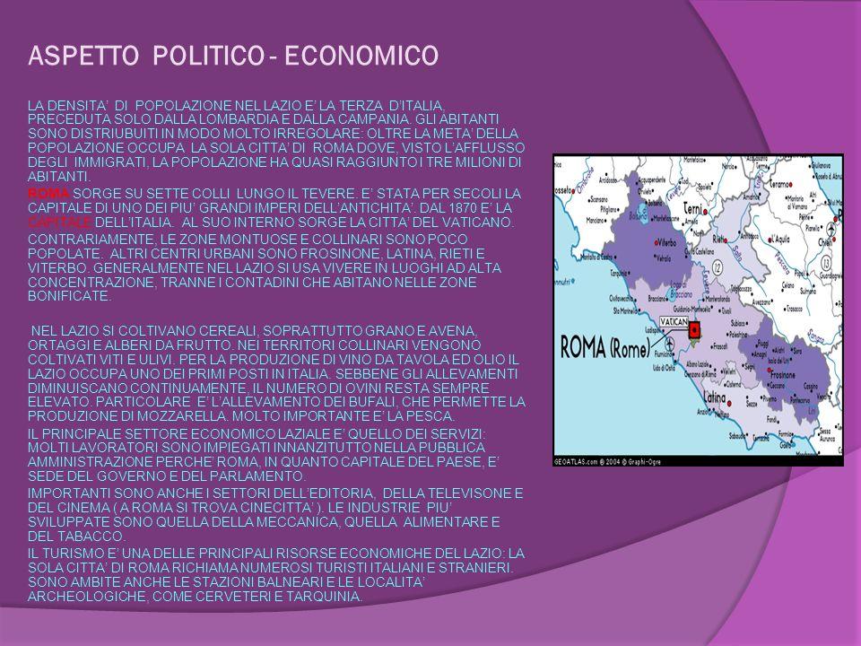 ASPETTO POLITICO - ECONOMICO