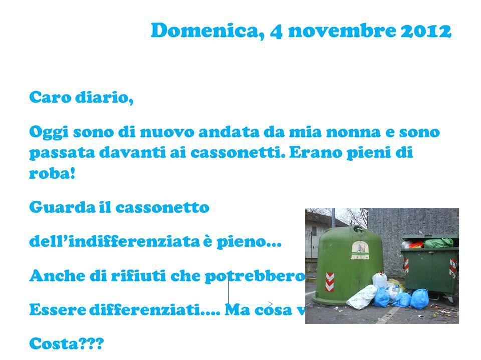 Domenica, 4 novembre 2012 Caro diario,