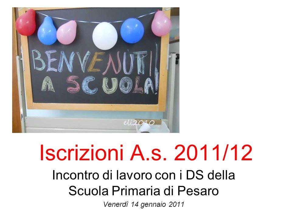 Incontro di lavoro con i DS della Scuola Primaria di Pesaro