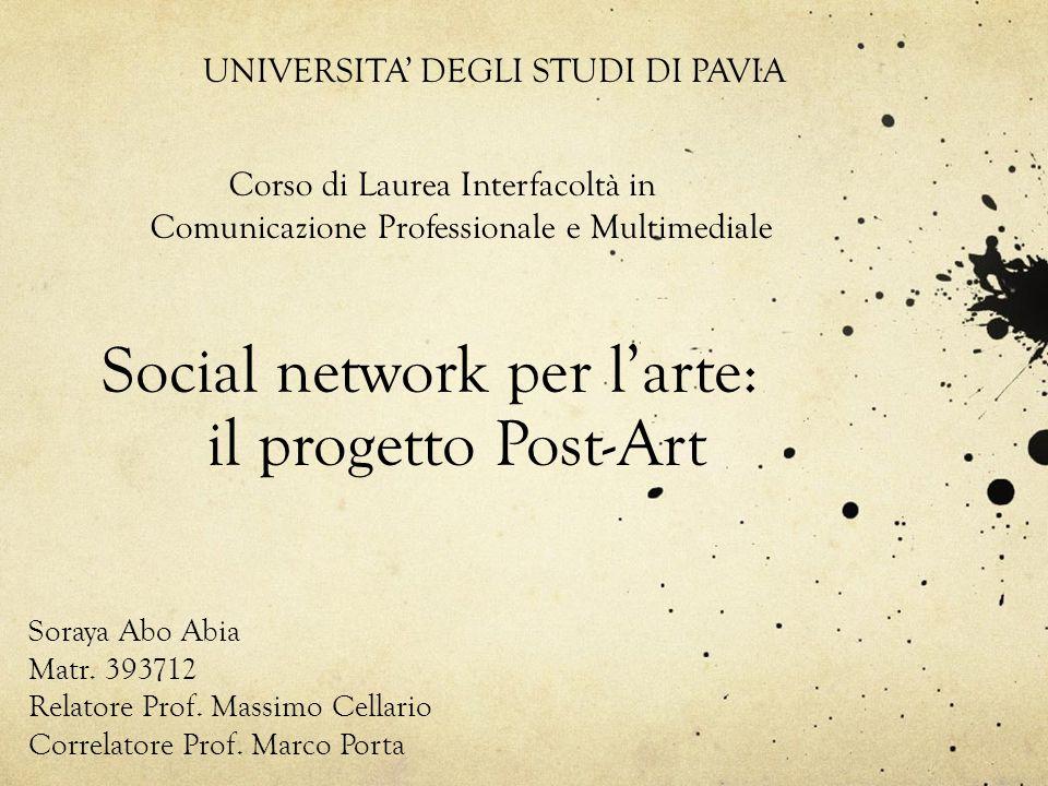 Social network per l'arte: il progetto Post-Art