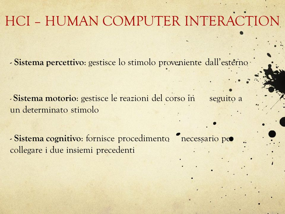 HCI – HUMAN COMPUTER INTERACTION