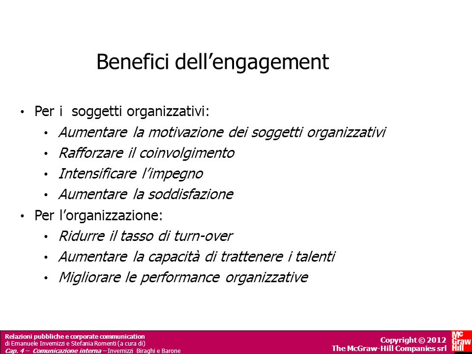 Benefici dell'engagement