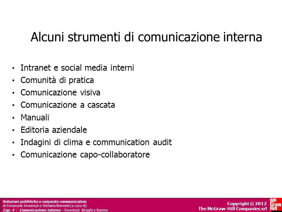 Alcuni strumenti di comunicazione interna