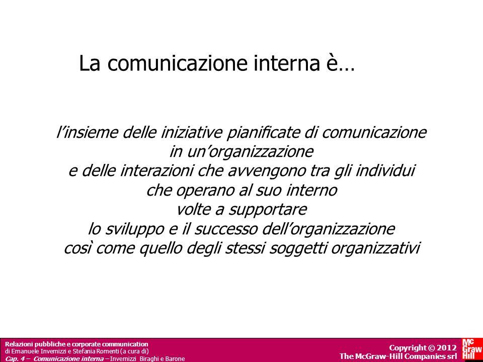 La comunicazione interna è…