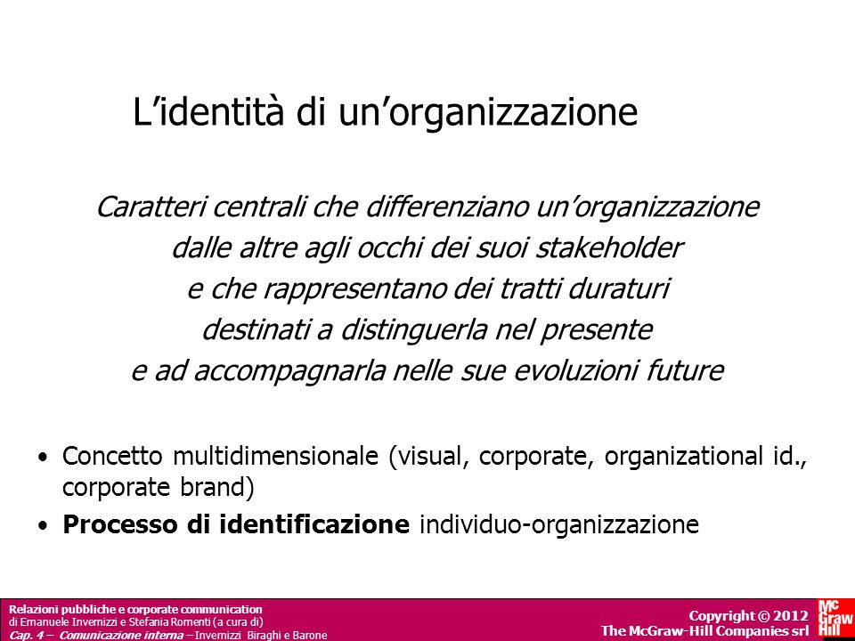 L'identità di un'organizzazione