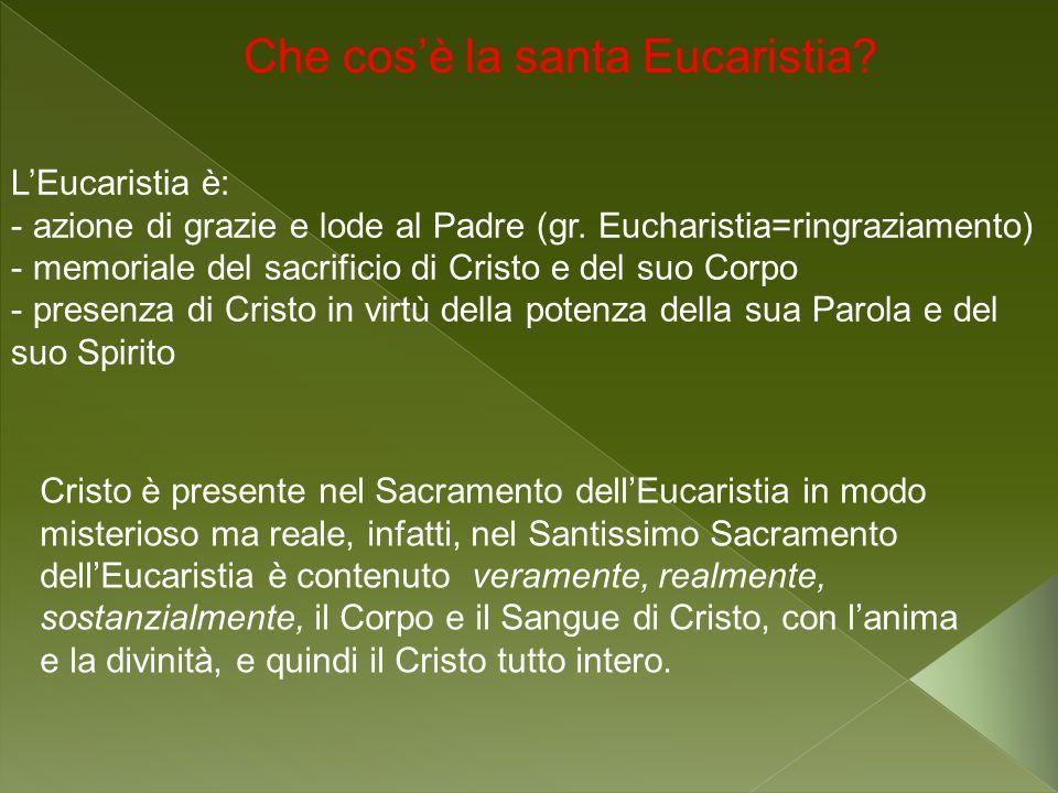 Che cos'è la santa Eucaristia