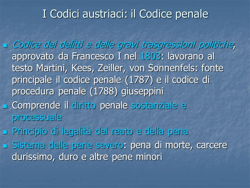 I Codici austriaci: il Codice penale