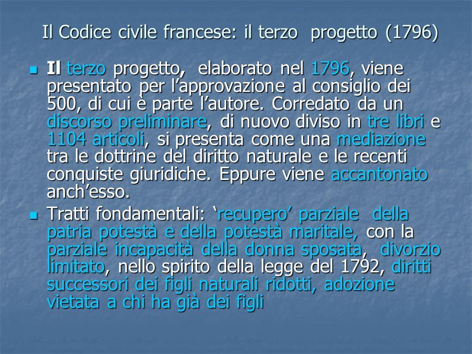 Il Codice civile francese: il terzo progetto (1796)