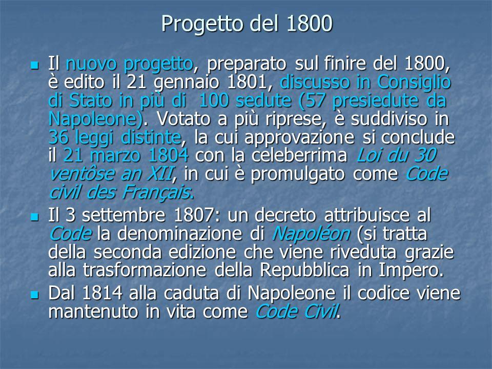 Progetto del 1800