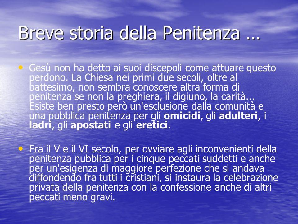 Breve storia della Penitenza …