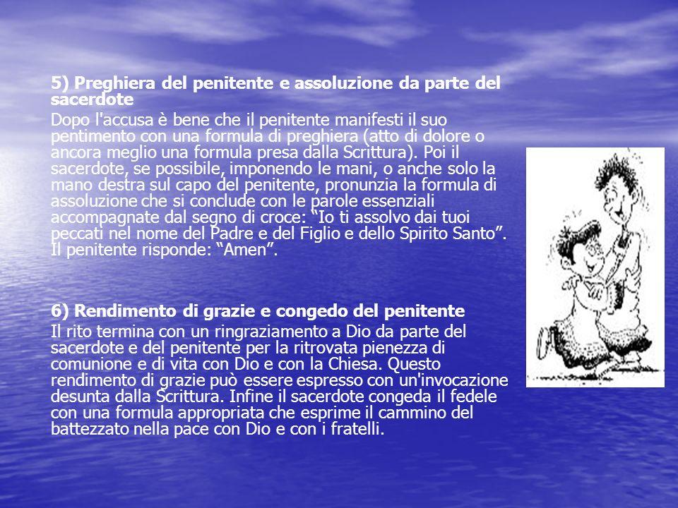 6) Rendimento di grazie e congedo del penitente
