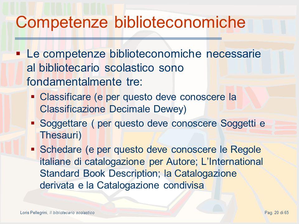 Competenze biblioteconomiche