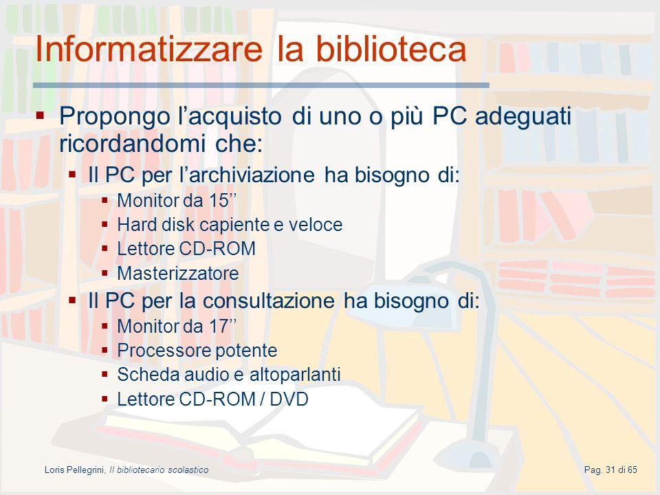 Informatizzare la biblioteca