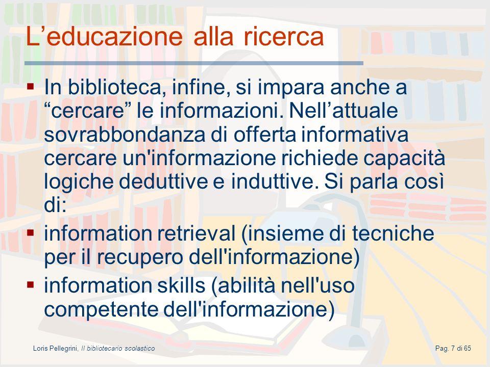 L'educazione alla ricerca