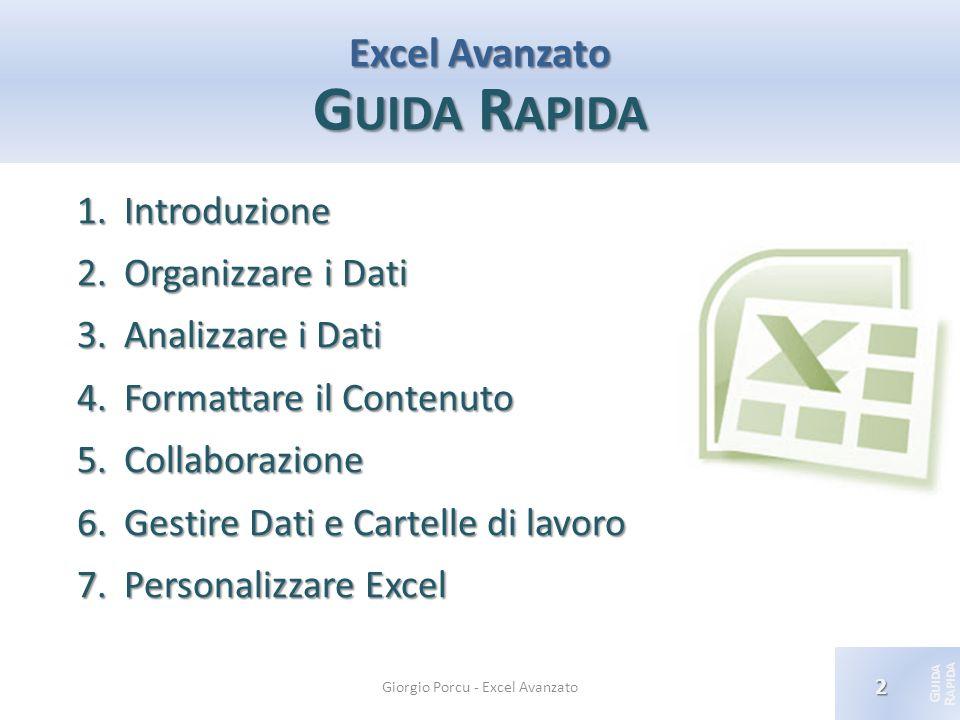Excel Avanzato Guida Rapida
