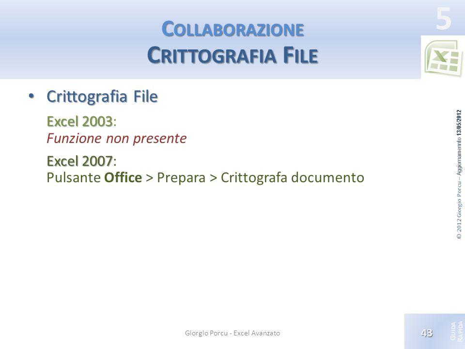 Collaborazione Crittografia File