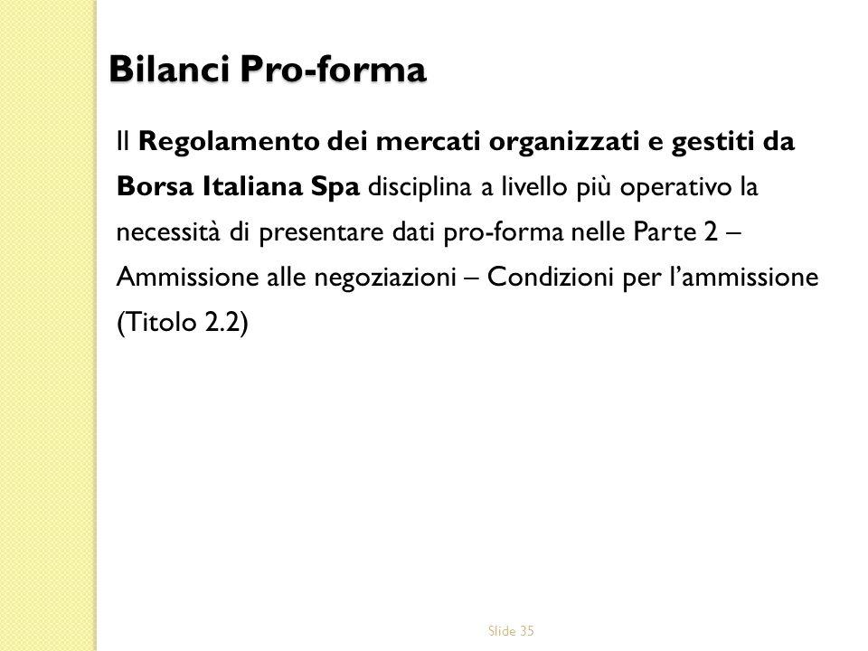 Bilanci Pro-forma