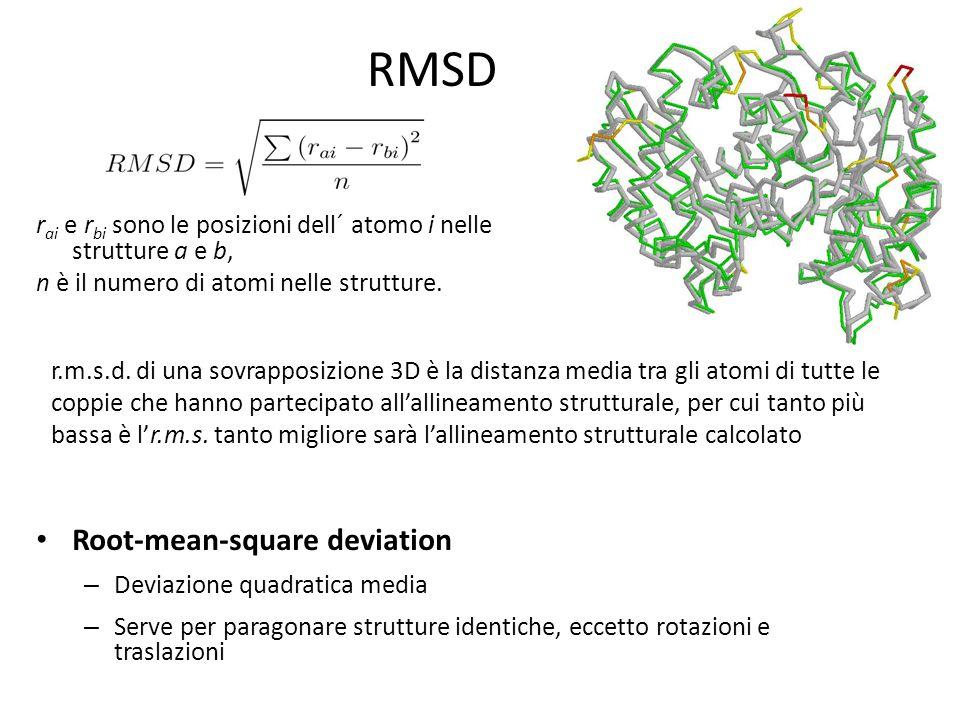 RMSD Root-mean-square deviation