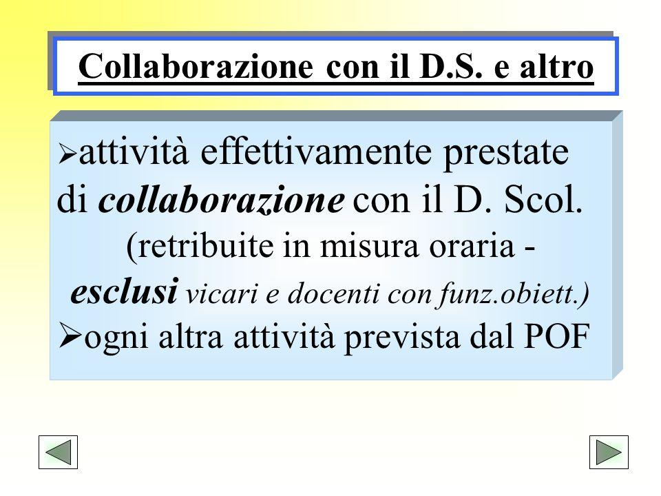 Collaborazione con il D.S. e altro