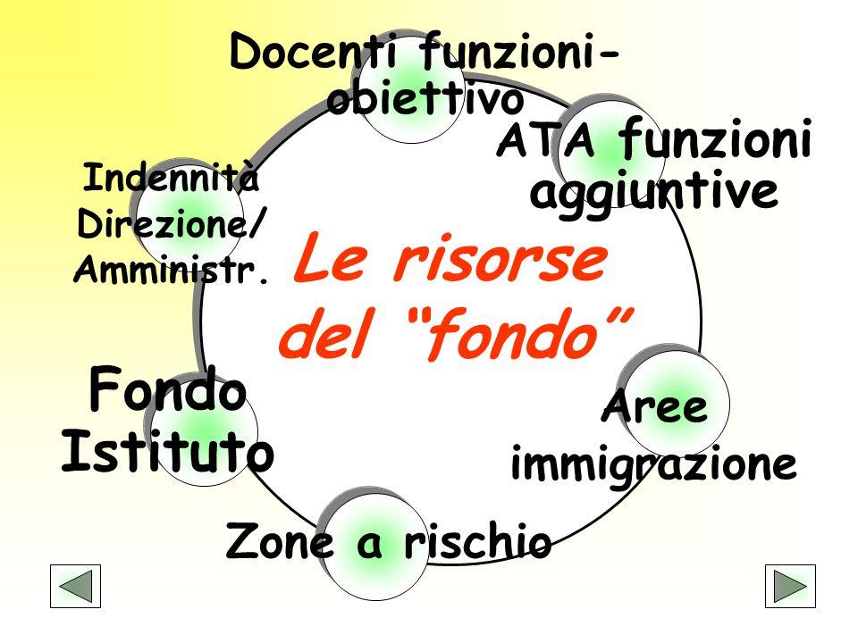 Le risorse del fondo Fondo Istituto Docenti funzioni-obiettivo