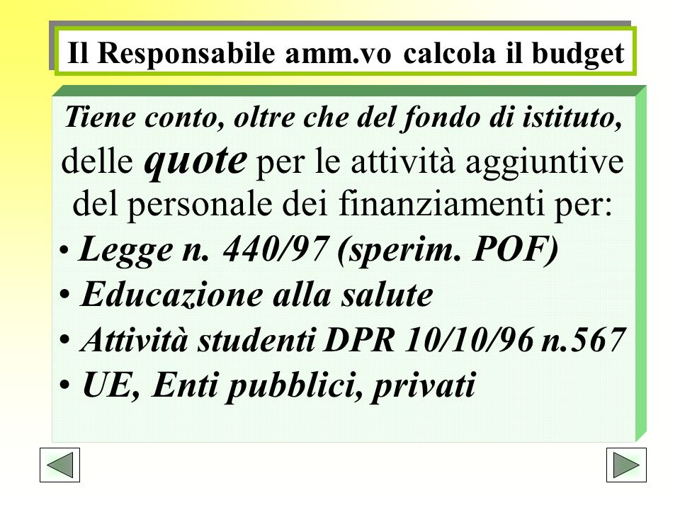 Educazione alla salute Attività studenti DPR 10/10/96 n.567