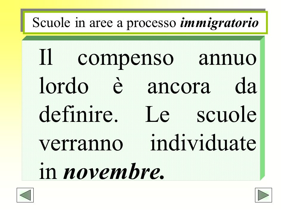 Scuole in aree a processo immigratorio